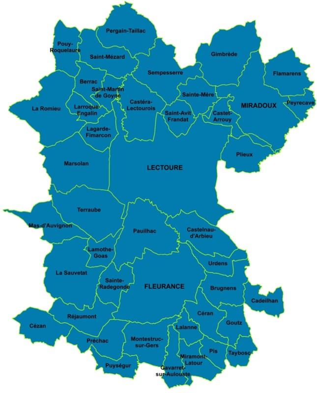 Communauté de Communes Lomagne Gersoise- 43 communes