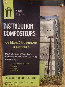 Distribution de composteurs par le SIDEL de Lectoure