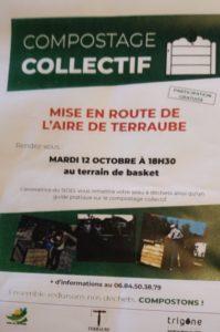 Mise en route de l'aire de compostage collectif de Terraube!